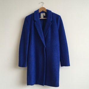 Royal blue wool coat